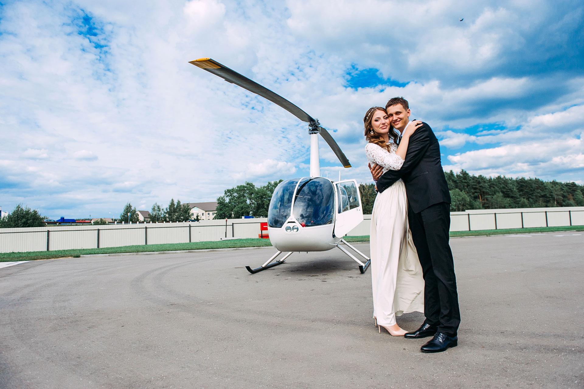 Louer un hélicoptère pour un mariage